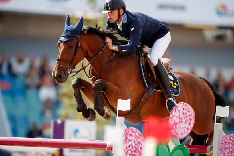 H&M ALL-IN (Kashmir van Schuttershof/Andiamo Z - naisseur: B. Huijbregts à NL-PV4891 Rijsbergen) et son cavalier suédois Peder Fredricson (photo (c) Hippofoto)